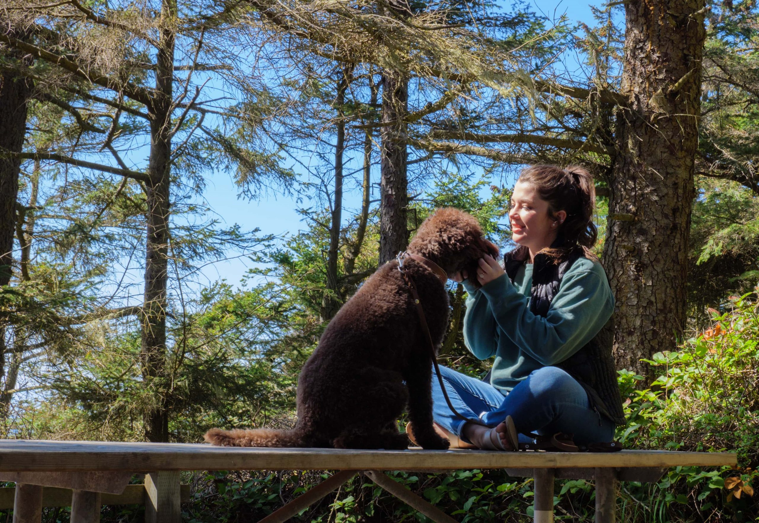 Tori and her dog Kai