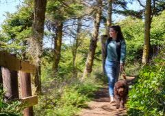 Tori and her dog Kai Hiking on Whidbey